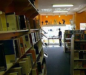 Interior of Pyramid Books store - book section